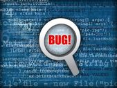 Code bug concept — Stock Photo