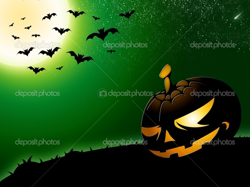 Green halloween background — Stock Photo #7670512
