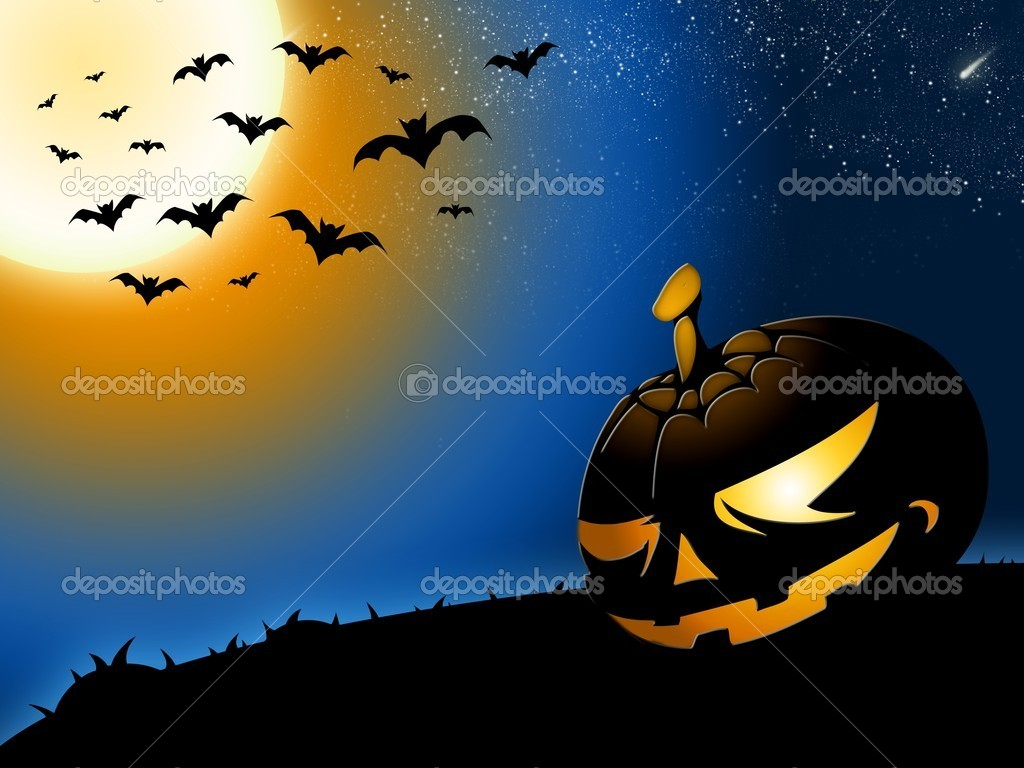 Halloween pumpkin illustration — Stock Photo #7670521