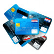 Credit cards isolated on white — Stock Photo