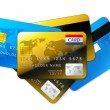 Colorful credit cards isolated — Stock Photo