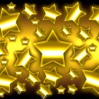 Golden stars background — Stock Photo