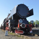 Old steam train locomotive — Stock Photo