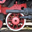 Stock Photo: Old locomotive red wheel
