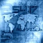 Blue World Information Background — Stock Photo