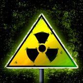 Radioactivity dark danger sign grunge — Stock Photo