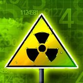 Radioactivity sign numbers — Stock Photo