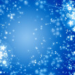 Stock Photo: Winter xmas snowflakes card
