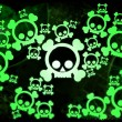 Radioactivity skulls — Stock Photo