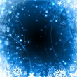 Royalty-Free Stock Photo: Winter snowflakes blue christmas design