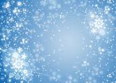 Blue light christmas background — Stock Photo