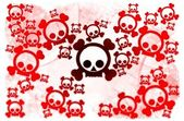 Red emo skulls — Stock Photo