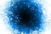 Winter snowflakes blue christmas design — Stock Photo