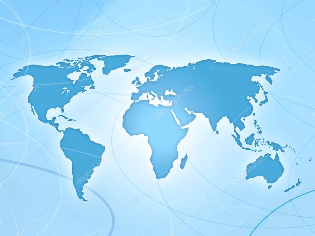 Blue World Map Background Stock Photo pixeldreams 7716188