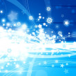 Xmas blue background - Stock Photo