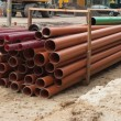 Stock Photo: Tubes on construction site