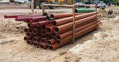 Tubes on construction site — Stock Photo