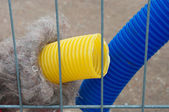 Yellow and blue tube — Stok fotoğraf