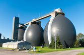 Sludge digestion tanks — Stock Photo