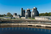 Sludge digestion tanks — Stock fotografie