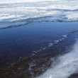 Thaw in the taiga river — Stockfoto
