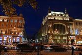 Night of St. Petersburg, Nevsky Prospekt — Stock Photo