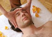 Facial massage — Stock Photo