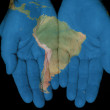 South America In Our Hands — Stock Photo