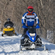 Snowmobiling - Stock fotografie