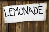 Lemonade Sign — Stock Photo
