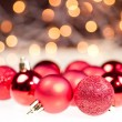 Red Christmas baubles — Stock Photo #7667637