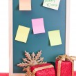 Christmas notice board — Stock Photo