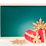 クリスマス メッセージ ボード — ストック写真