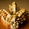 Ganesha with a bokeh of Ganesha's — Stock Photo
