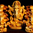 Ganesha amongst nine Ganesha's — Stock Photo