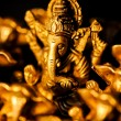 Ganeshamongst Ganesha's over black — Stock Photo #7668935