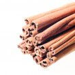 A stack of cinnamon sticks - Stock Photo