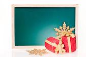 Christmas message board — 图库照片