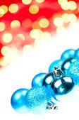 蓝色的圣诞小玩意 — 图库照片