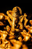 Ganesha amongst Ganesha's over black — Stock Photo