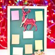 Christmas notice board with ornaments — Stock Photo