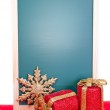 Christmas message board vertical — Stock Photo