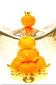 橘子和锭 — 图库照片