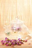 Pink rose tea — Стоковое фото