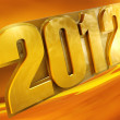 New 2012 year background. - Stock Photo