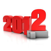 New 2012 year background. — Stock Photo