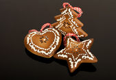 Ginger ornaments for Christmas — Stock Photo