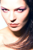 Head shot, portrait of female model - beauty woman - made in studio — Stock Photo