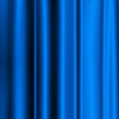 Fundo de tecido cetim de seda azul - linhas verticais — Fotografia Stock