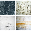 Collection of four natural scratched textures wall backgrounds to design — Stock Photo #7908166